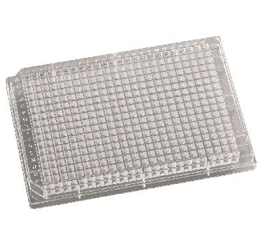 221003 384-Well 120ul Square Well Clear Polystyrene Assay Plates, 100/pk