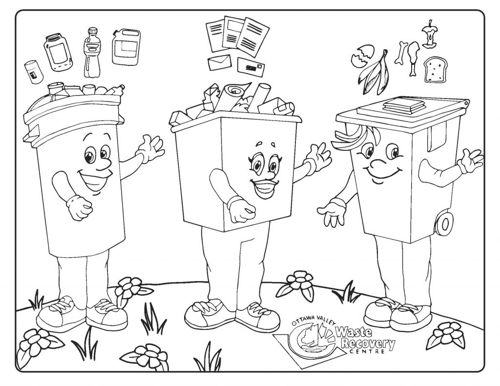 Kids Colouring Pages Ottawa Valley Waste Recovery