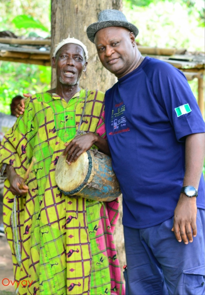 Travelling Poet hanging out with Baba Jegede