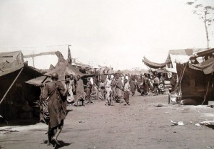 The First Indian Bazaar. A new Bazaar was then set up on what is today Biashara Street. Image from http://www.theeagora.com/birth-city-photo-essay-history-nairobi/