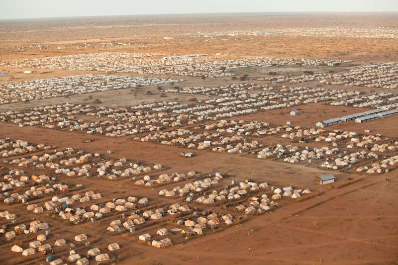 From the air, Dadaab looks like a utopia in the desert. A neat city of tents.