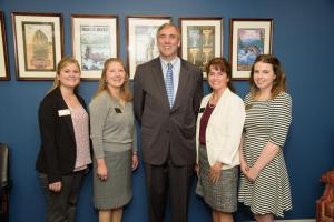 OWA Members with Senator Jeff Merkley.