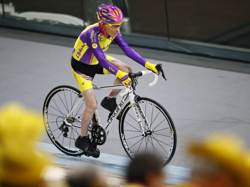Robert-sets-world-record Day in the Life: Robert Marchand, Centenarian Cyclist