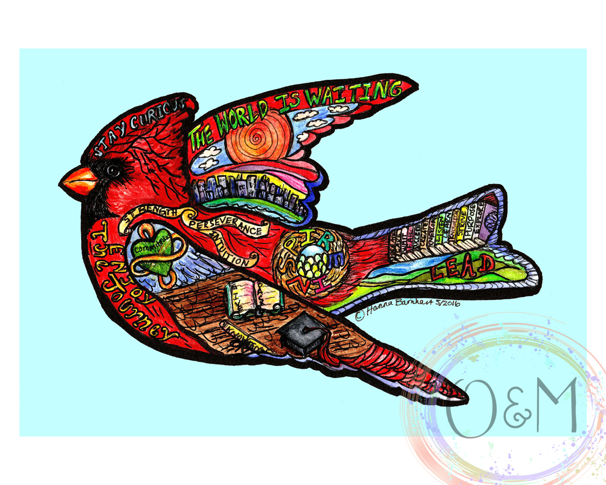 Watercolor Cardinal Art Print