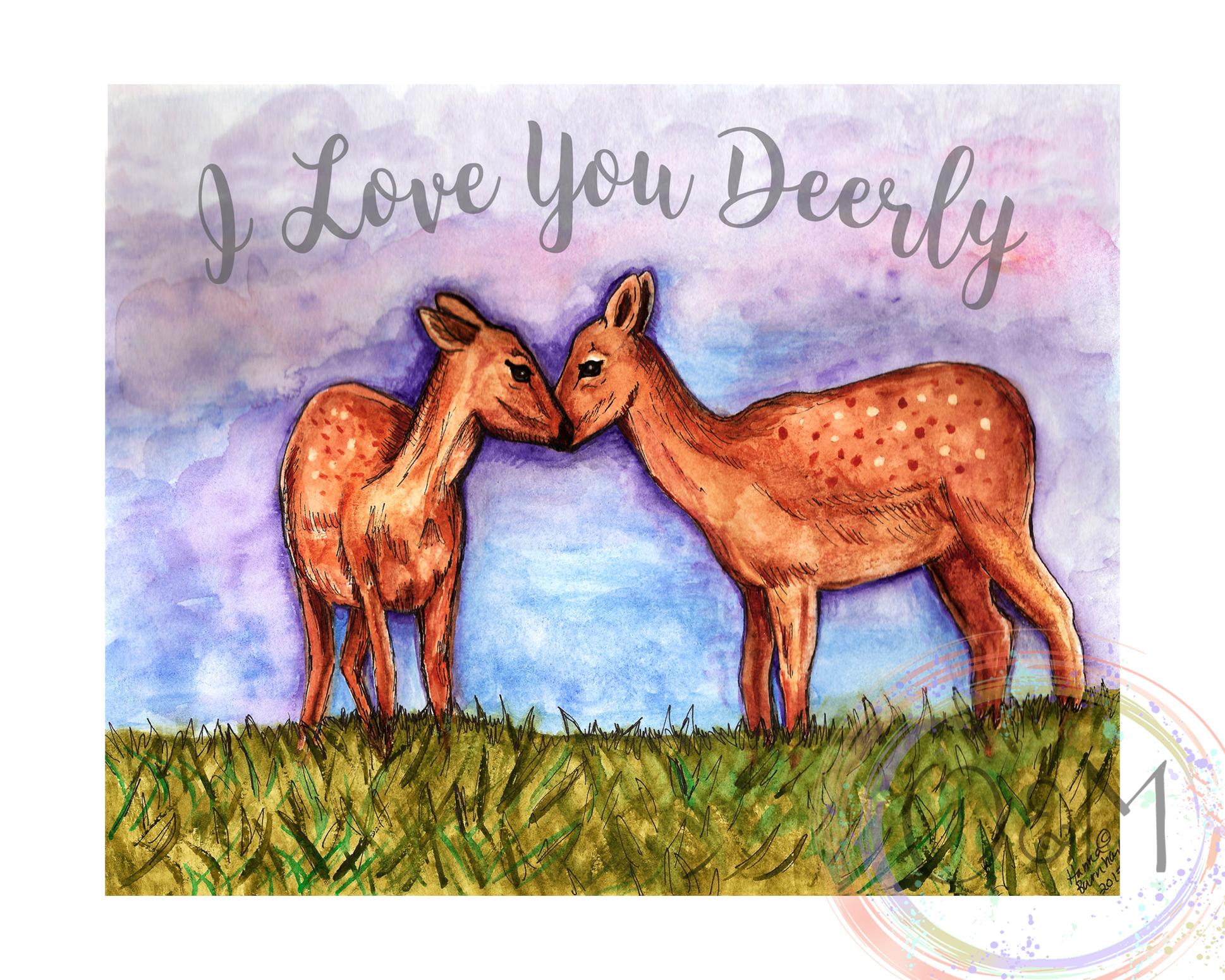 Deer Art Wall Print
