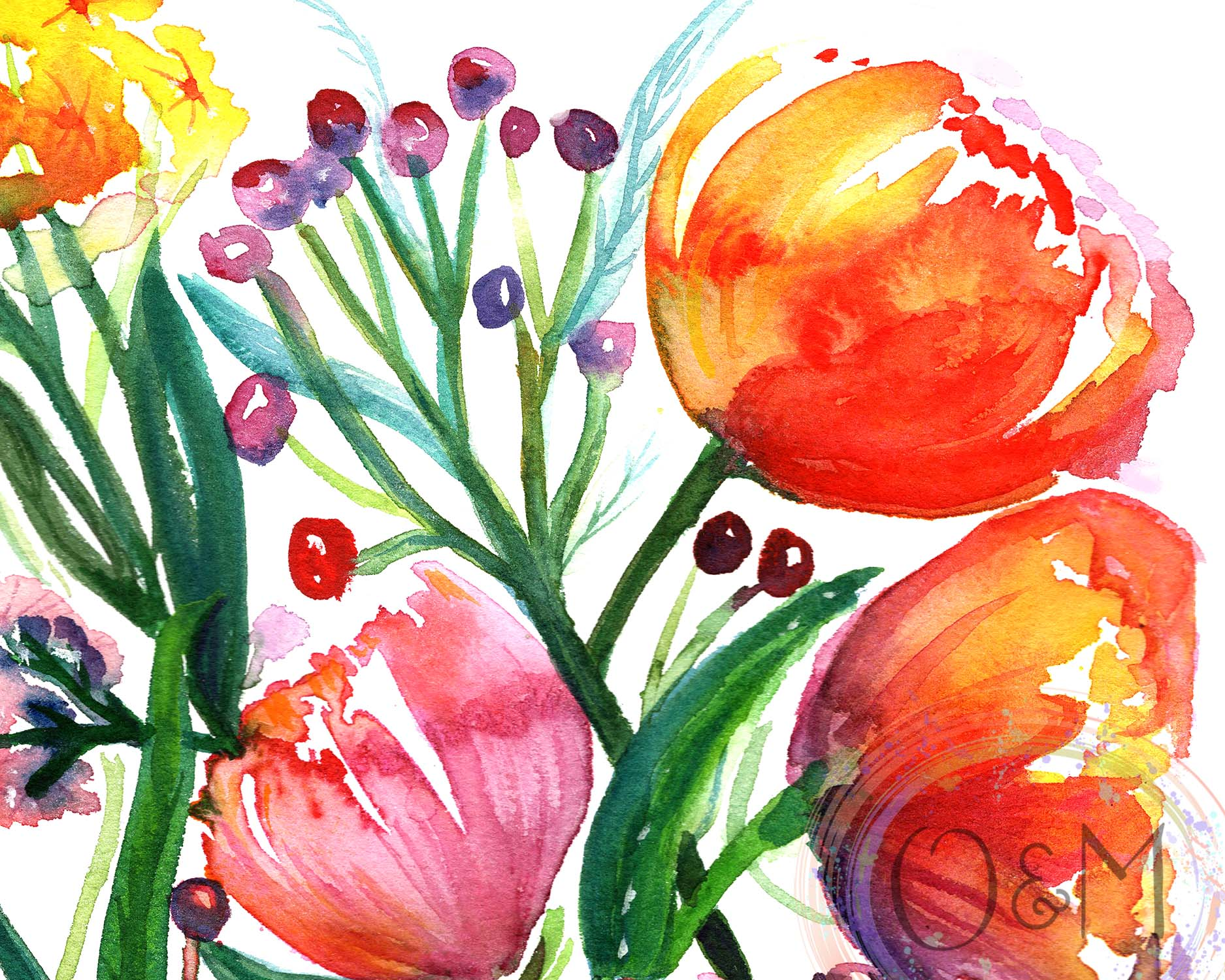 Tulip Flower Wall Art