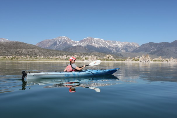 Author enjoying a guided kayak tour offered by Stuart Wilkinson of Caldera Kayaks