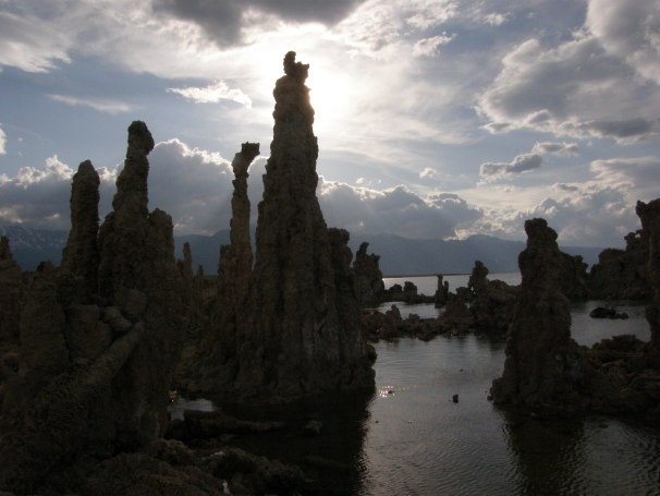 Dramatic cloud formations and Sierra sunlight await you at Mono Lake. Photo by Carol Underhill.
