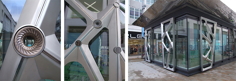 Artwork Panels for kiosk on The Moor, Sheffield
