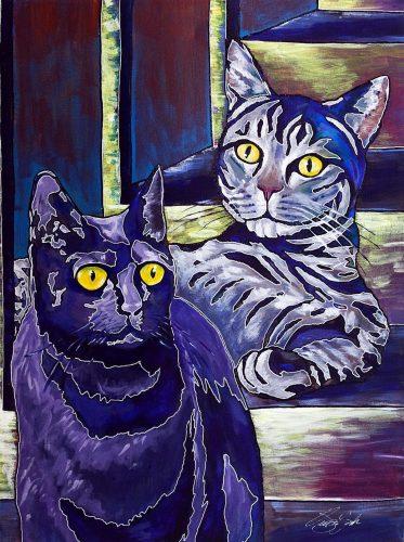 Cats -- Owen York Art