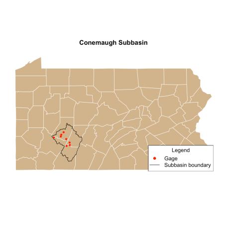 Polygon map of Pennsylvania