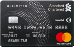 Singapore Standard Chartered Bank Unlimited Cashback Credit Card