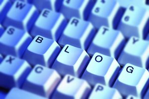 A picture of keyboard keys spelling out the word blog.
