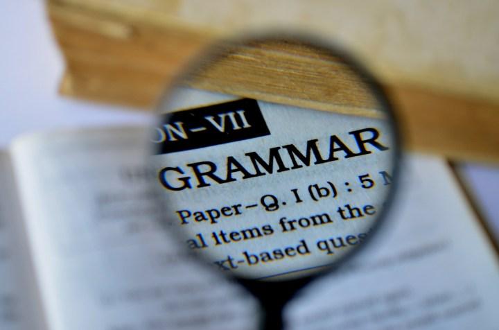 word grammar under a microphone