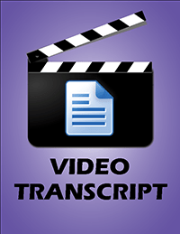 Video Transcript Button