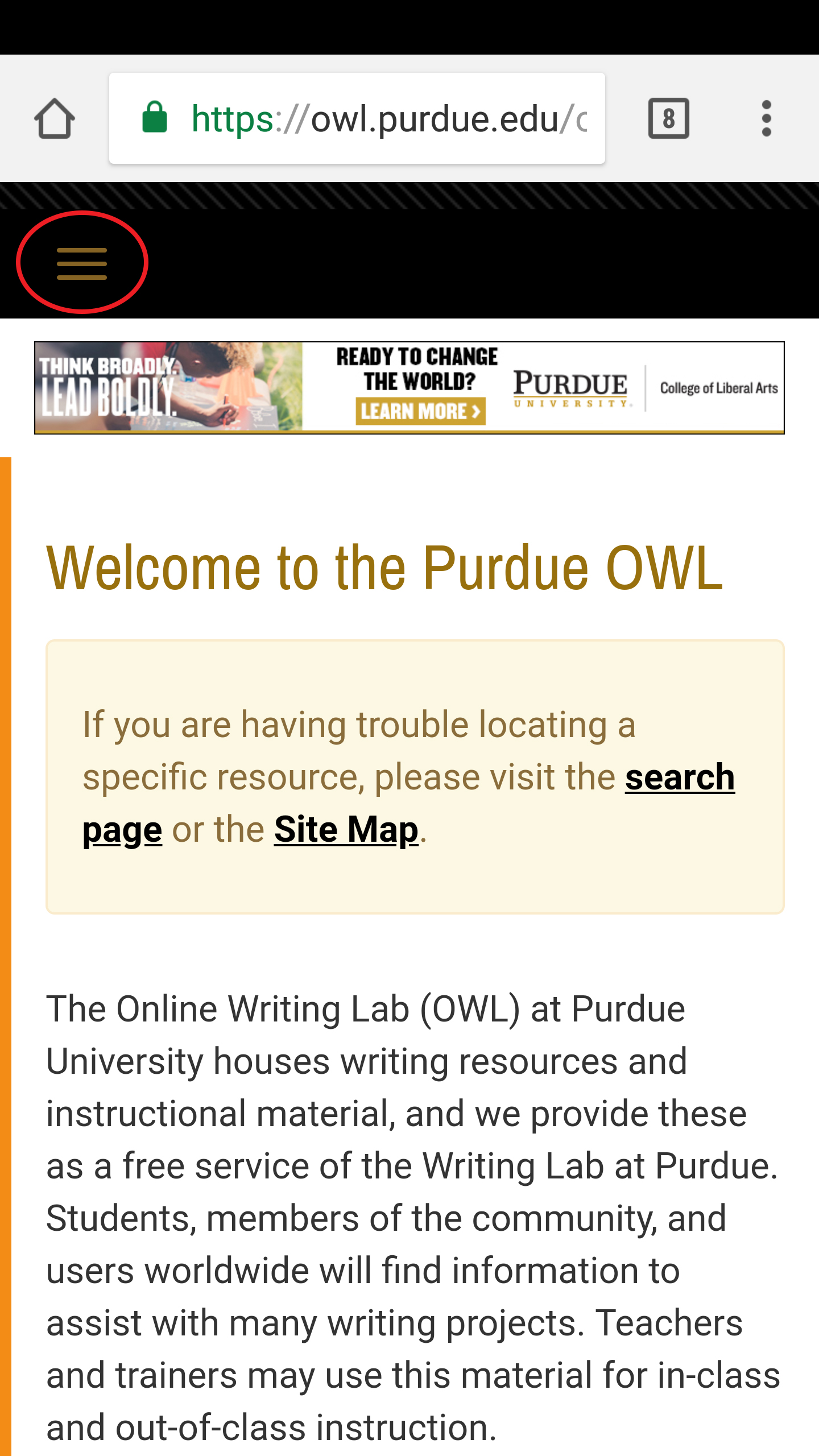 Purdue Owl Apa Style Table Of Contents