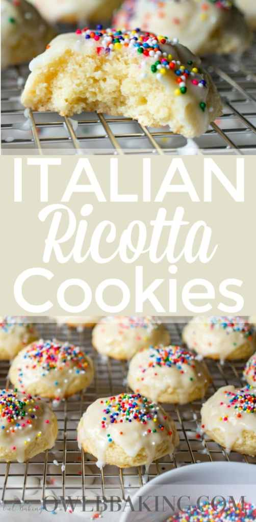 Italian Ricotta Cookies Pin for Pinterest
