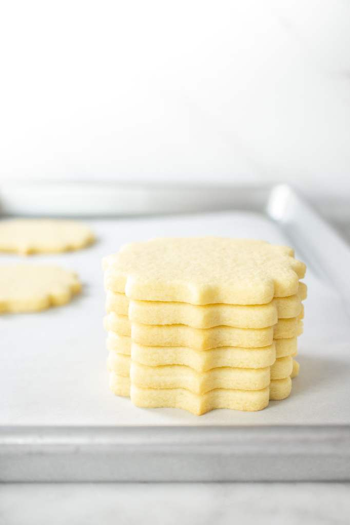 No Chill Sugar Cookie Cut Outs- Stacked Cookies