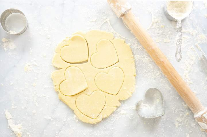 No Chill Sugar Cookie Cut Outs- heart cookies