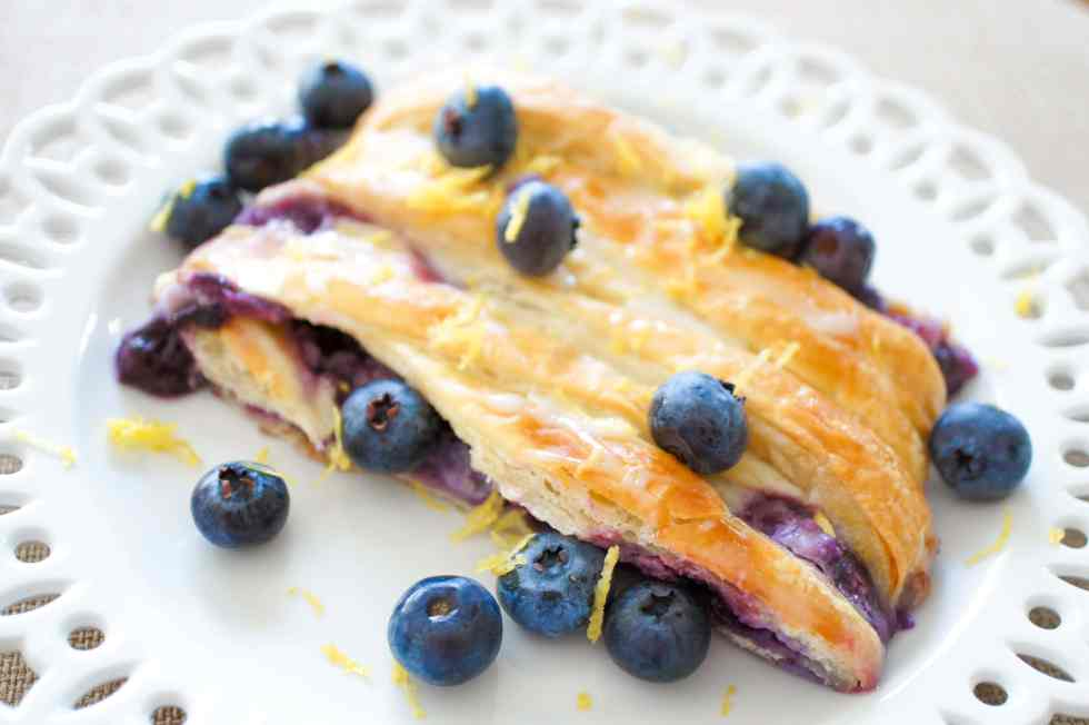 Blueberry Danish with Mascarpone recipe