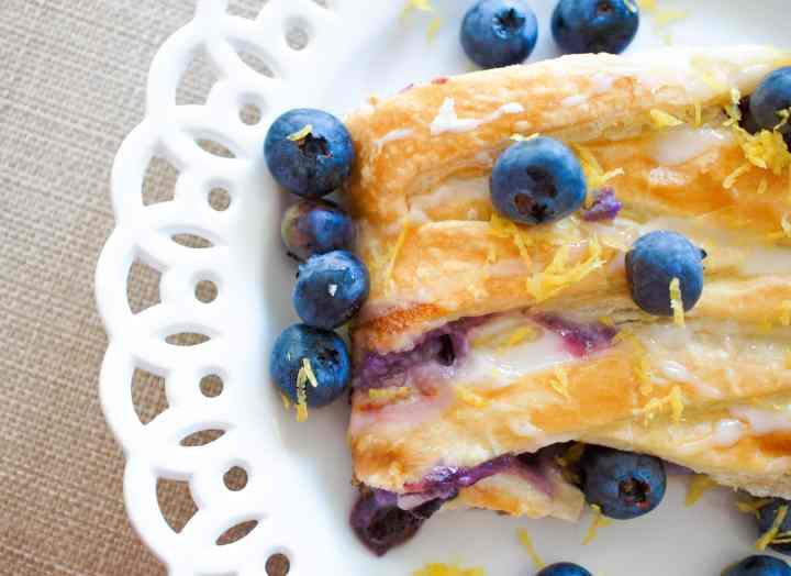 Blueberry Danish with Mascarpone recipe