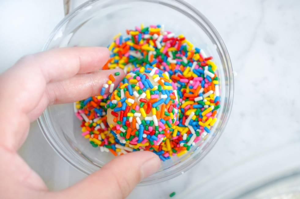Sprinkle Cookies - Rolling