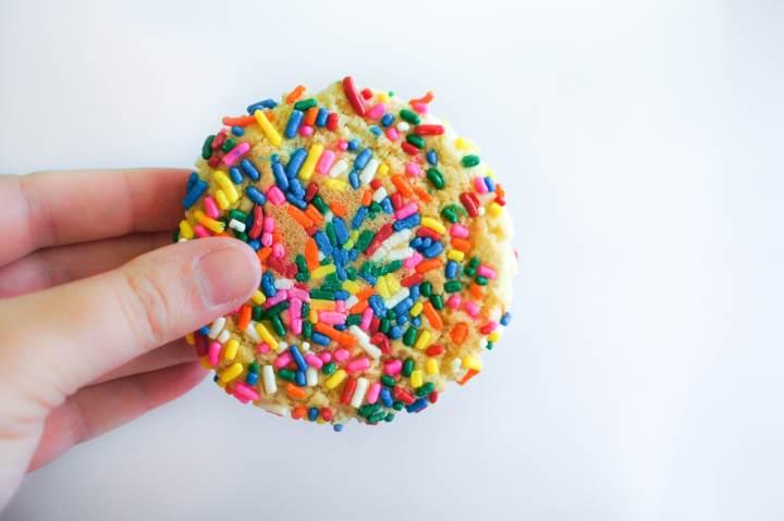 Sprinkle Cookies - bottom of cookie