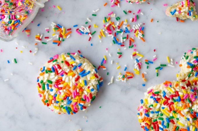 Sprinkle Cookies - flatlay new