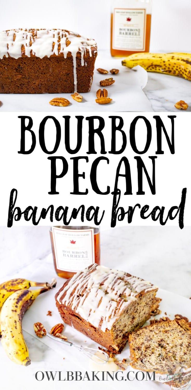 Bourbon Pecan Banana Bread