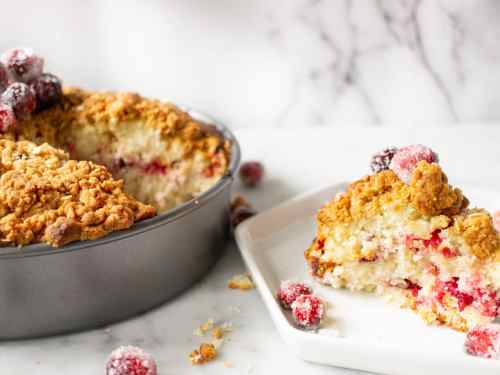 Cranberry Coffee Cake is an easy coffee cake recipe for the holidays. A great cake for brunch or entertaining.