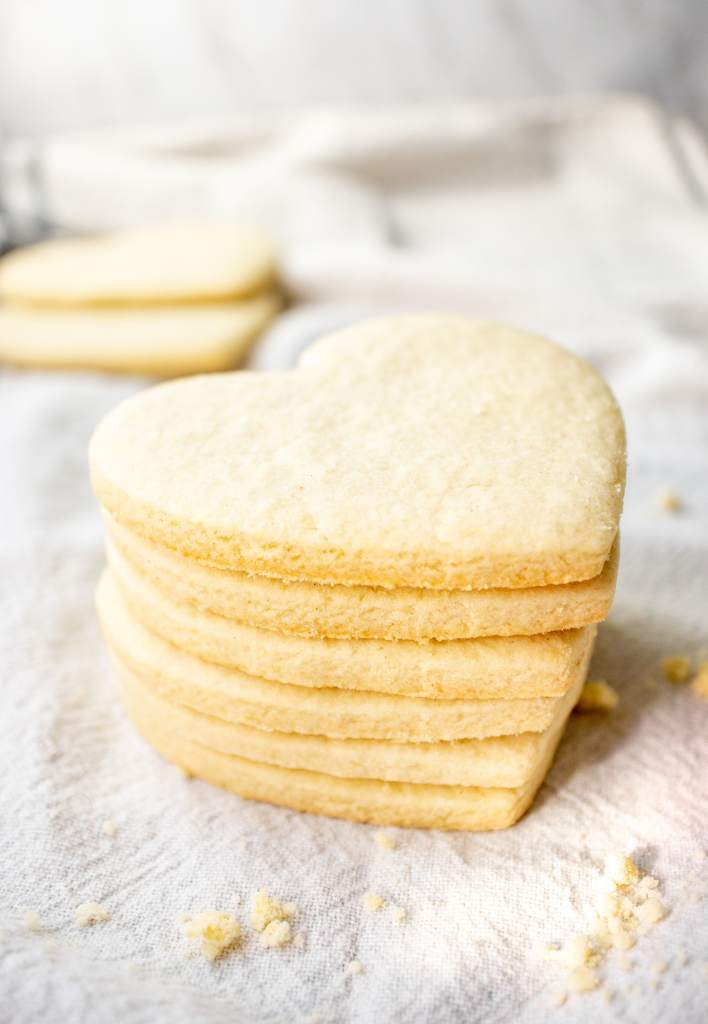 Gluten-free sugar cookie cut outs that hold their shape and do not spread.