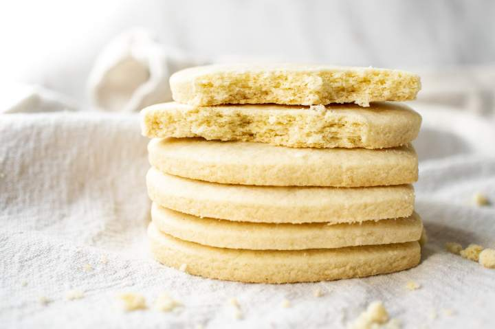 These gluten-free sugar cookie cut outs are soft and chewy.