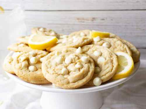 These Lemon White Chocolate Chip Cookies are soft, chewy and bursting with fresh lemon flavor!