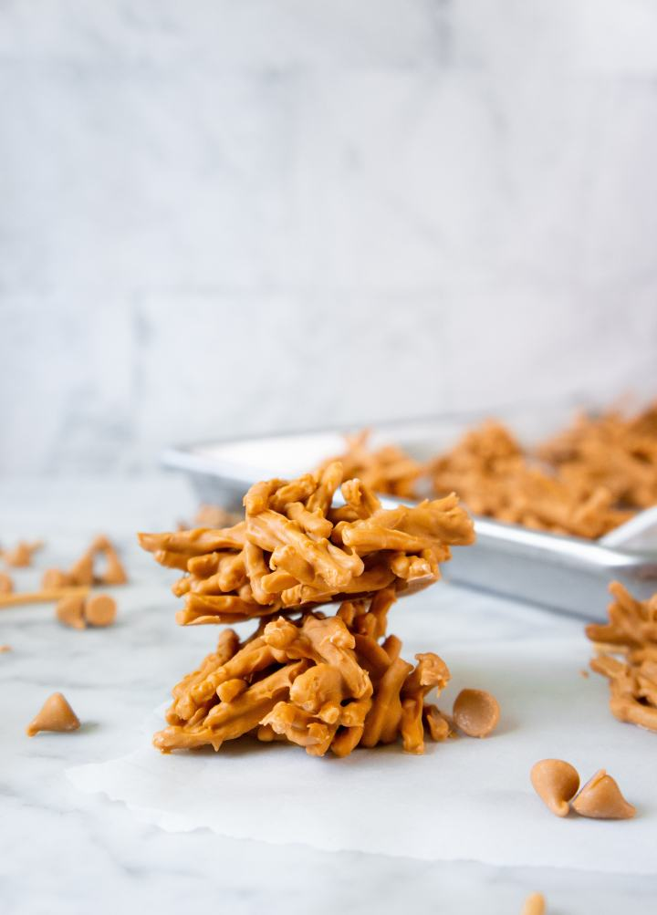 Butterscotch Haystacks stacked