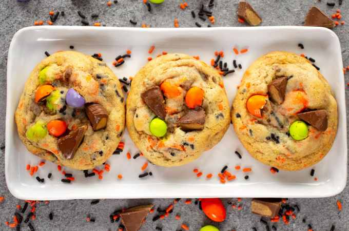 Halloween Cookies on a white plate