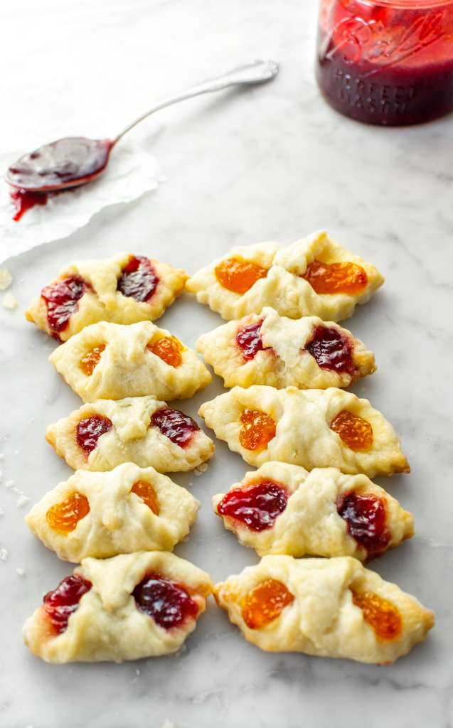 Kolaczki Polish cookies filled with jam