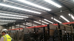 An image of led warehouse lighting
