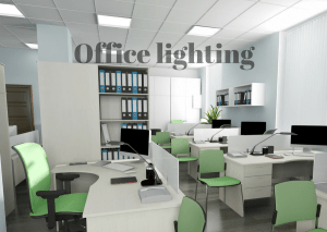 An image of LED office lighting