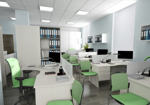 Owled modern LED office lighting