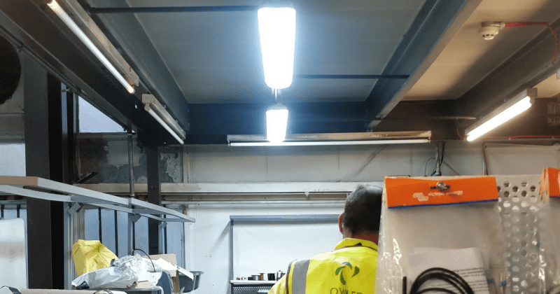 Owled's warehouse LED lighting installation at Meadotech