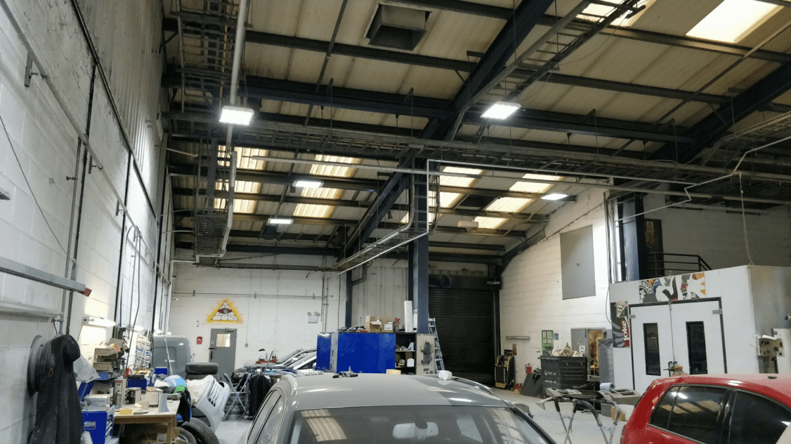 Owled's garage lighting installed into Bodytec's site