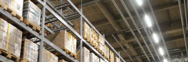 Warehouse lighting header