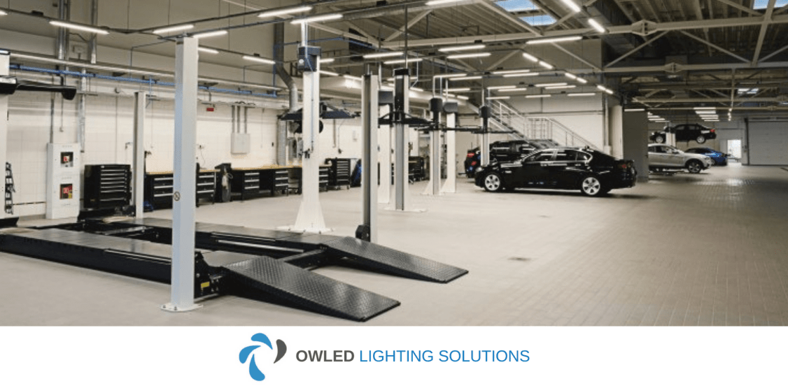 An image of Owled garage lighting