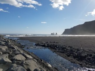 Iceland Vik Black Sand Beach stream