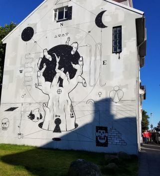 Iceland Reykjavik building art