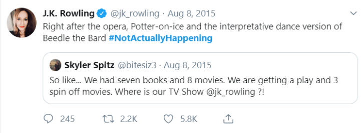 A Harry Potter TV show? Yes please! 1
