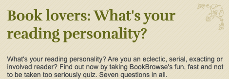 Quiz: What's your reading personality? 1