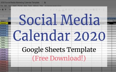 Social Media Calendar Google Sheets Template for 2020