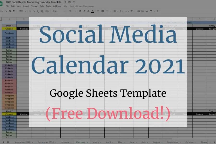 Social Media Calendar 2021 Blog Image | OWLLytics