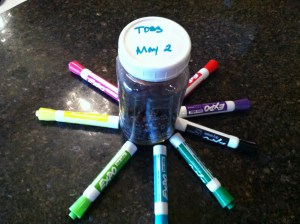 dry erase markers for food storage